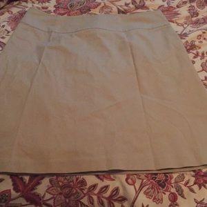 A line cotton spandex skirt